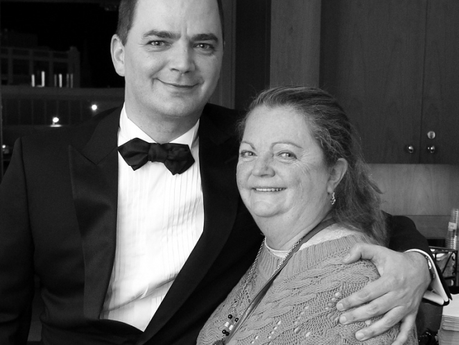 Brian Evans and his mother, Helen Marie Bousquet