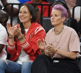 Megan Rapinoe and her girlfriend, Sue Bird