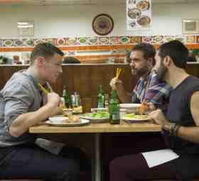 From left: Jonathan Groff, Murray Bartlett and Frankie J. Alvarez