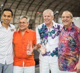 Raul Daniels, Lyndon Marquez, Clair Koetitz and Michael Dimengo